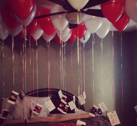 Birthday Room Decoration Idea for Boyfriend